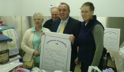 Elizabeth Jimmy Forsyth, Alex Salmond (First Minister For Scotland) and Janet Sladdin