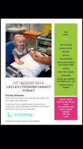 Layla's Charity Fun Day Poster