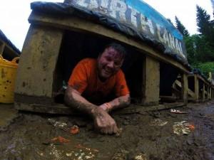 Iain getting muddy