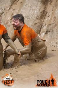 a very muddy Iain