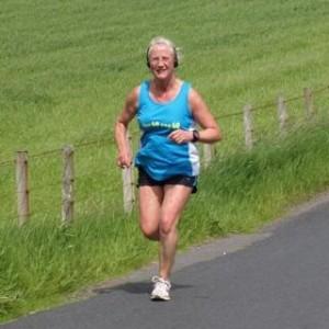 Anne doing her running challenge