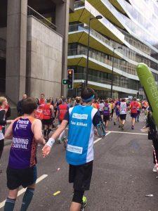 Paul running the marathon