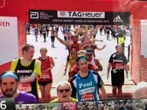 Paul at the finish line